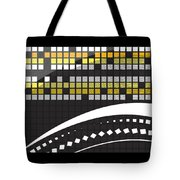 Abstract Crossword Puzzle Squares On Black Tote Bag