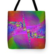 Abstract Cubed 373 Tote Bag