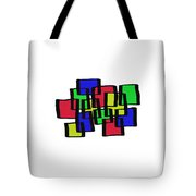 Abstract Cubicles Tote Bag