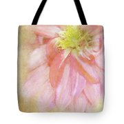 Abstract Dahlia In Pink Tote Bag