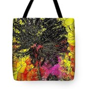 Abstract Dandelion Stained Glass Tote Bag
