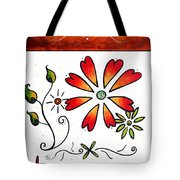 Abstract Decorative Greeting Card Art Thank You By Madart Tote Bag