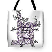 Abstract Design Of Stumps And Bricks #3 Tote Bag
