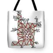 Abstract Design Of Stumps And Bricks Tote Bag