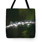 Abstract Dew On Reed Tote Bag