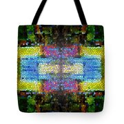 Abstract Digital Shapes Colourful Stained Glass Texture Tote Bag