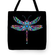 Abstract Dragonfly Tote Bag by Deleas Kilgore
