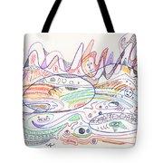 Abstract Drawing Nineteen Tote Bag