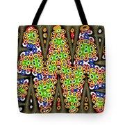 Abstract Drawing Panel Tote Bag