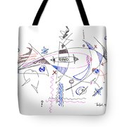 Abstract Drawing Sixty-four Tote Bag