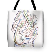 Abstract Drawing Sixty Tote Bag