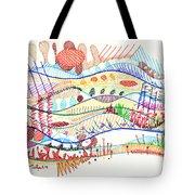 Abstract Drawing Three Tote Bag