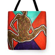 Abstract Ebony Nude Sitting Tote Bag