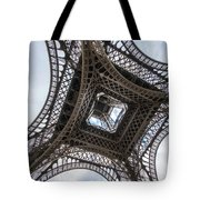 Abstract Eiffel Tower Looking Up 2 Tote Bag