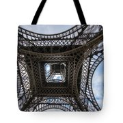 Abstract Eiffel Tower Looking Up Tote Bag