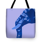 Abstract Elephant Doll Blue Tote Bag
