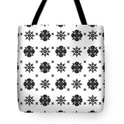 Abstract Ethnic Seamless Floral Pattern Design Tote Bag