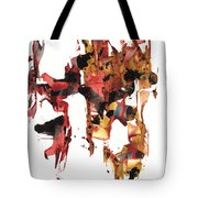 Abstract Expressionism Painting Series 744.102110 Tote Bag