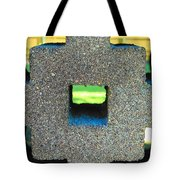 Abstract Face In Concrete Tote Bag