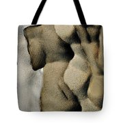 Abstract Female Figure In Grey  Tote Bag