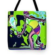 Abstract Female Tennis Player 2 Tote Bag