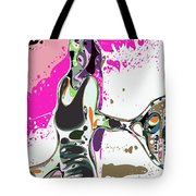 Abstract Female Tennis Player Tote Bag