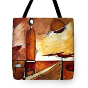 Abstract Figurative Art African Flame By Madart Tote Bag