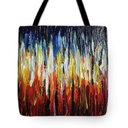 Abstract Fire And Ice Tote Bag