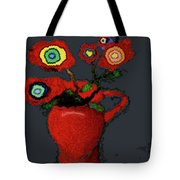 Abstract Floral Art 90 Tote Bag