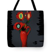 Abstract Floral Art 91 Tote Bag