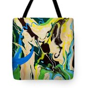 Abstract Flow Green-blue Series No.1 Tote Bag