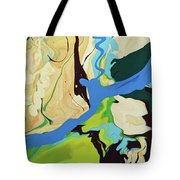 Abstract Flow Green-blue Series No.2 Tote Bag