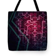 Abstract Flowchart Background Tote Bag