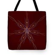 Abstract Flower Mandala Tote Bag