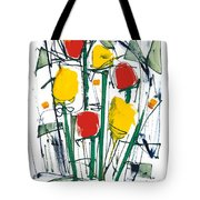 Abstract Flower Sixteen Tote Bag