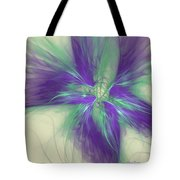 Abstract Flower Sway Tote Bag