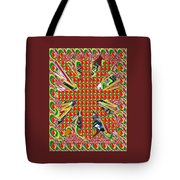 Abstract Flowers Floral Leaf Leaves Colorful Modern Art Navinjoshi Fineartamerica Pixels Tote Bag