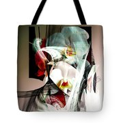 Abstract Flowers Of Love #1 Tote Bag