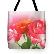 Abstract Flowers Spring Background Tote Bag
