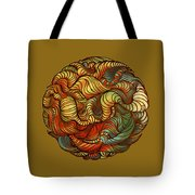 Abstract Forest Ball Tote Bag