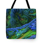 Abstract Fractal Landscape Tote Bag