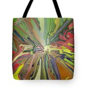 Abstract Garden Wrapped Tote Bag