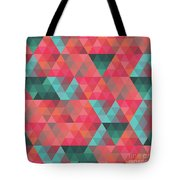 Abstract Geometric Colorful Endless Triangles Abstract Art Tote Bag