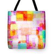 Abstract Geometric Colorful Pattern Tote Bag by Setsiri Silapasuwanchai