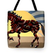 Abstract Geometric Futurist Horse Tote Bag