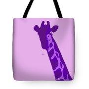 Abstract Giraffe Contours Purple Tote Bag