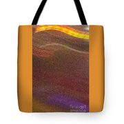 Abstract Gold Brown And Blue Tote Bag