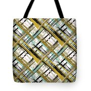 Abstract Gold Lines Tote Bag