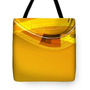 Abstract Golden Arcs And Lines Tote Bag