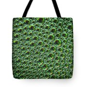Abstract Green Alien Bubble Skin Tote Bag